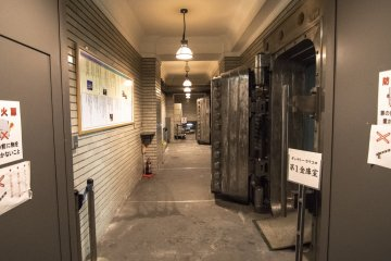 <p>The large bank vaults have not been removed, and has become a mini-museum commemerating the incarnation of the premises.</p>