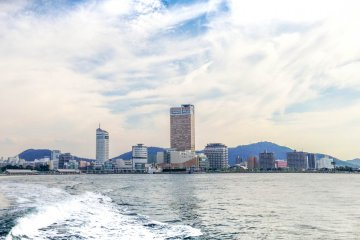 Leaving the big city of Takamatsu behind