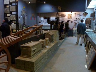 Historical material, photos, tools, etc. are on display in the museum.
