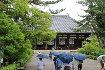<p>The Kondo (main) Hall of Toshodaiji from the main gate. It was built during the latter half of the 8th century</p>
