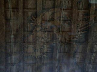 Dragão desenhado no teto