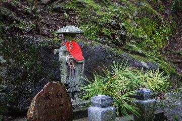 <p>A stone statue of Kobo-daishi</p>