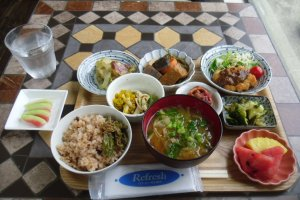 The lunch set, with its wonderful variety
