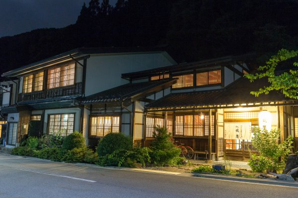 The Kazeya Ryokan is peaceful and quiet at night