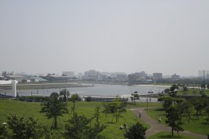 The view from the top of Omori Nori museum.