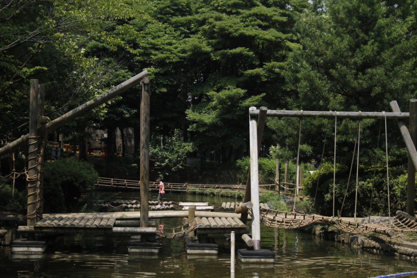 This adventure park is large and great for children.