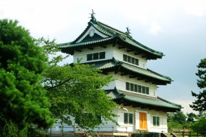 Hirosaki Castle in summer