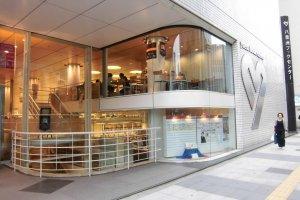 Yaesu Book Center entrance and cafe