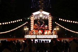 The yagura of Hokka Bon Odori