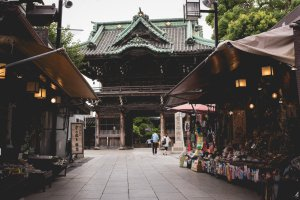 View of Shibamata Taishakuten Temple from the Sando
