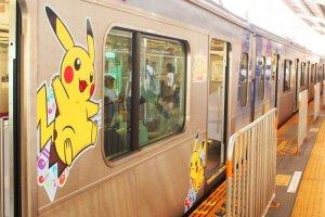 Pikachu trên chiếc xe lửa đến Jiyugaoka!