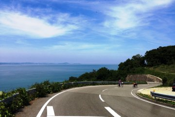 The winding road is perfect for cyclists and motorcylists