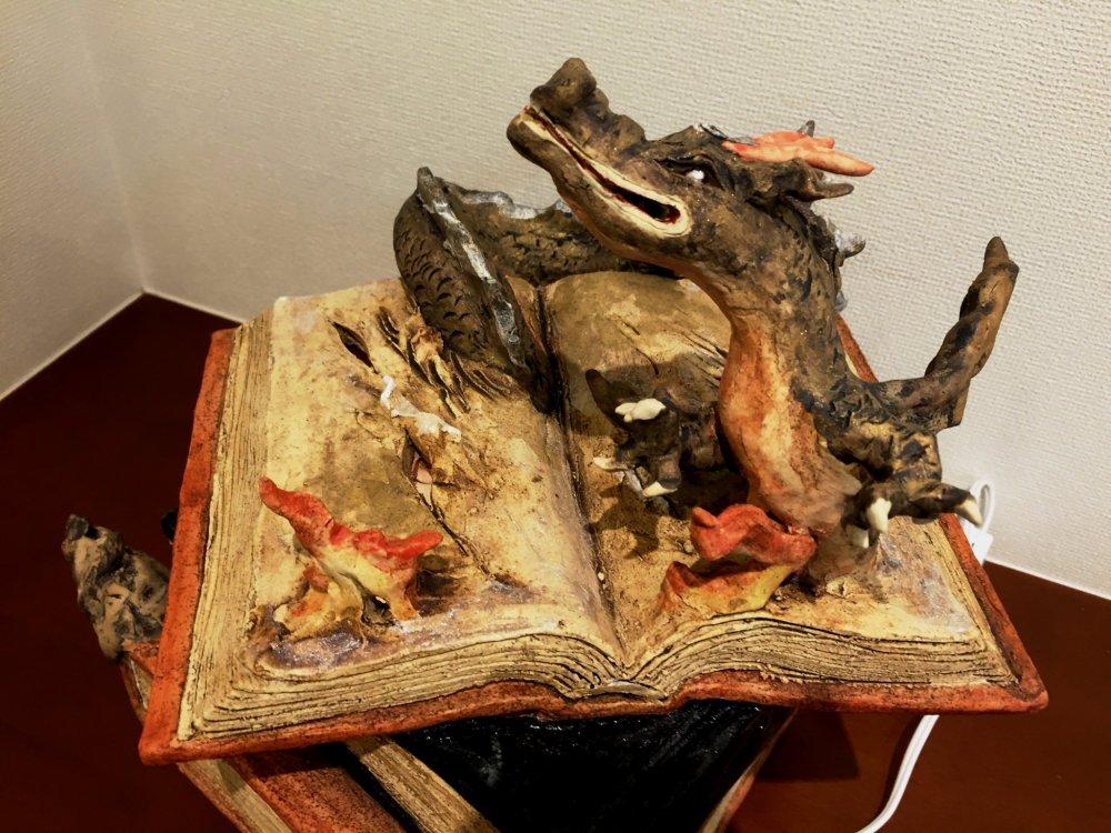 Лампа-дракон в стиле Гарри Поттера