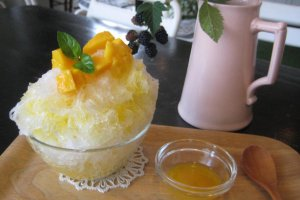 Shaved ice (kaki-gori), Summer speciality, made of natural ice sourced from Nikko