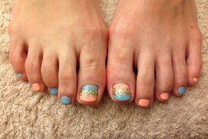 One of the Nail Art design for pedicure.