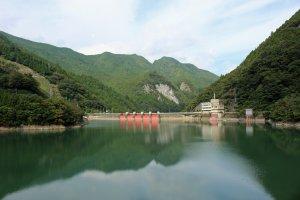 Osako Dam and its reservoir