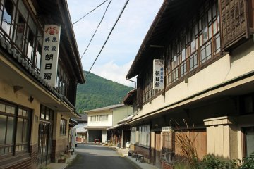 <p>The Asahikan Ryokans in the old time village of Kashiwagi</p>