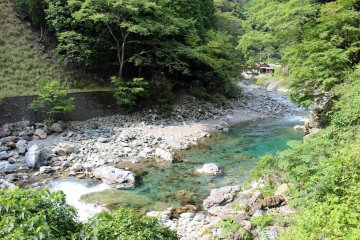 <p>Lots of beautiful, swimmable rivers and riverside hamlets dot Kawakami-mura</p>