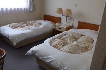 <p>Some rooms are exclusively Western in design.&nbsp;</p>