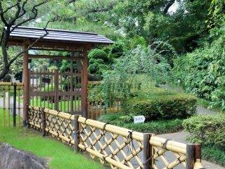 Le jardin n'est pas grand mais est soigneusement entretenu et dispose de nombreux éléments d'un jardin traditionnel