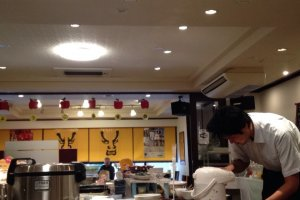 The carefully decorated breakfast room at Art Hotel Color Aomori