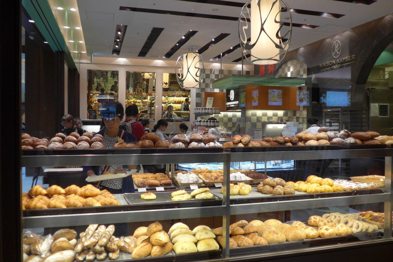 Lots of tasty freshly baked goods at Maison Kayser.
