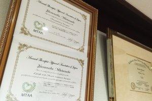 Jonny's certificates