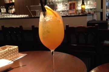 <p>Pineapple-orange drink that I had. So refreshing!</p>