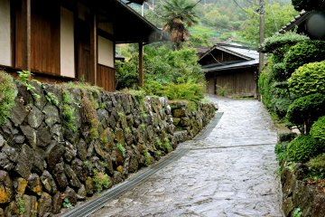 Stone walls, and fine old wooden buildings