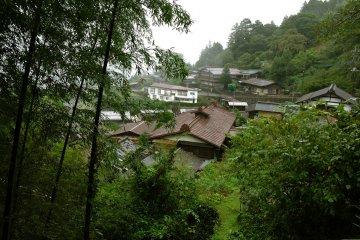 Akasawa-juku in the rain