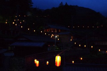 Obon lantern festival in Akasawa-juku