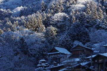 Akasawa-juku in snow