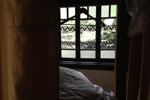 Sneaking into someone's bed. If you are lucky, you can get garden view from your bed.