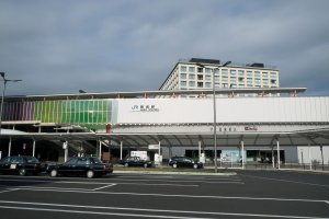 The east side of JR Nara Station (the east side faces Nara Park)
