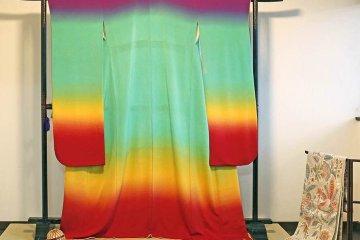 <p>Small Kimono exhibition in Tea Ceremony Koto</p>