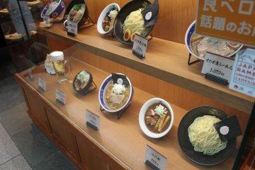 <p>Replica food menu</p>