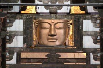 <p>A Buddha in the window &nbsp;</p>