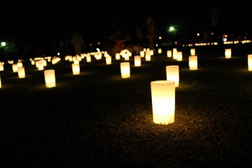 <p>Up close with the lanterns</p>