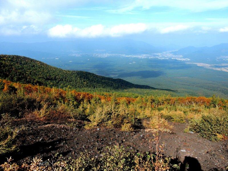 <p>View over Aokigahara Forest and&nbsp; Fujiyoshida</p>