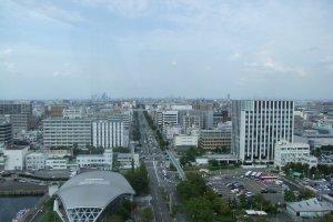Looking back towards central Nagoya