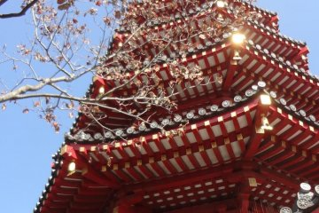 A pagoda within the temple grounds