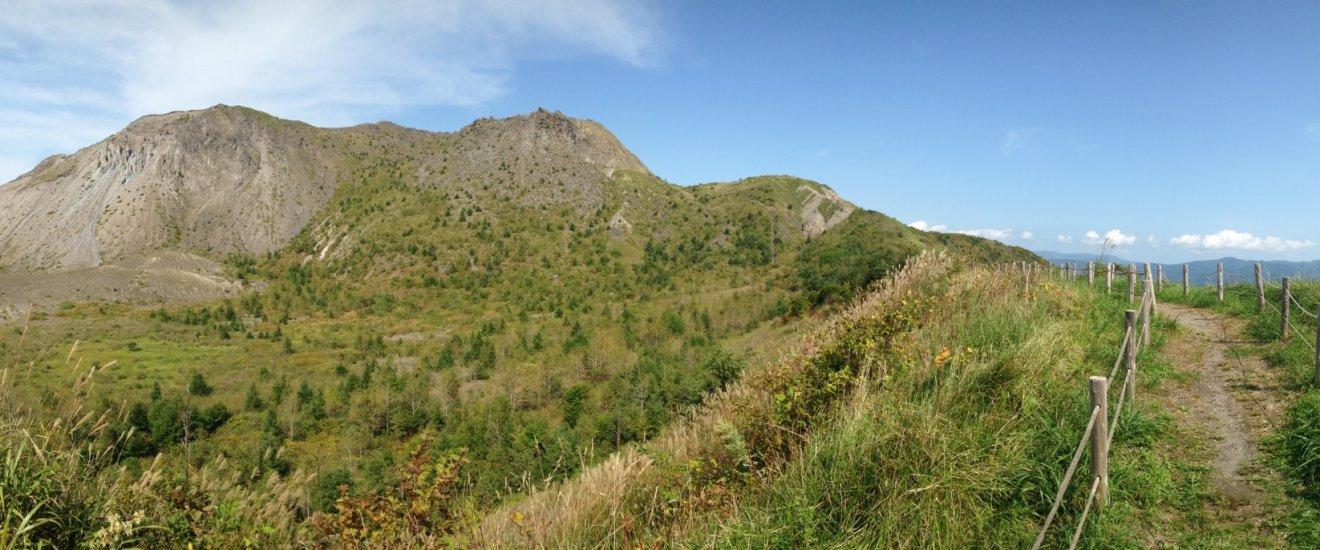 Panorama view dari jalur trekking