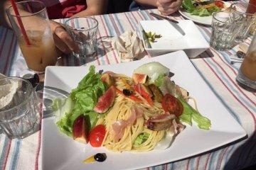 <p>Fig pasta!</p>