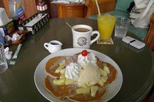 Le Haupian pancake, pas toujours sur le menu, mais qui vous donne une idée des quantités