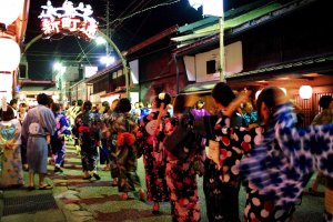 Gujo Hachiman's authentic folk dance festival