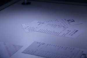Vertically-written receipts