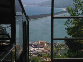 Take a glimpse of Amanohashidate from the top cable car station.
