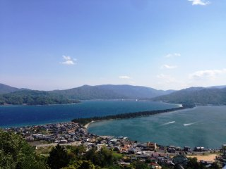 A glorious view of Amanohashidate from Kasamatsu Park