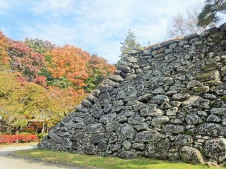 The old tenshu (base of the main castle keep) is all that remains of the old fortifications