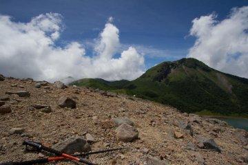 Mount Oku-Shirane and Goshiki-numa crater lake